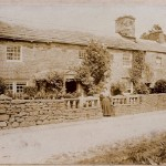 Mrs. Hodgson outside High Blean in or around 1911. High Blean is now a B&B just outside Bainbridge, over looking Semer Water