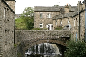 The River in Hawes runs through the centre of the town and can be seen in interesting ways from different parts of town