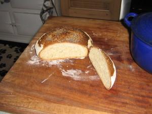 High Blean B&B Semer Water cooked no knead bread