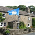 Yorkshire White Rose flag fly's at High Blean B&B Askrigg in the Heart of the Yorkshire Dales Secluded B&B over looking Semer Water
