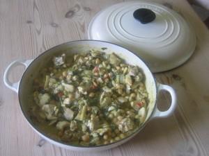 Chicken curry made at High Blean B&B Bainbridge