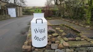 New sign for High Blean B&B Askrigg, Semer Water Yorkshire Dales