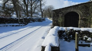 Snow cover at High Blean B&B Raydaleside Askrigg Yorkshrire Dales