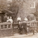 Photo of the Hodgson family out side High Blean Raydaleside which is now High Blean B&B Bainbridge