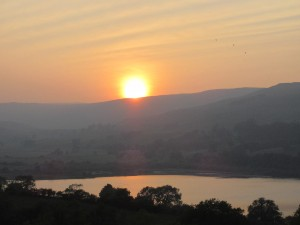 Sun slowly sinks over Semerwater