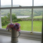 Looking at Semer Water from bedroom two at High Blean B&B Bainbridge
