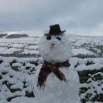 Snowman at High Blean Bed and Breakfast Askrigg, Yorkshire Dales