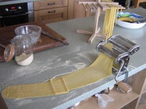 Fresh pasta being made at High Blean B&B Bainbridge, Askrigg