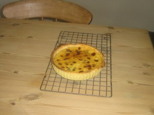 Yorkshire Curd tart made at High Blean B&B Bainbridge