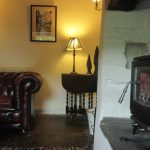 Wood burning stove in the lounge of High Blean B&B quiet and peaceful Raydale